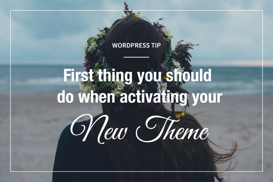 Activating new WordPress theme