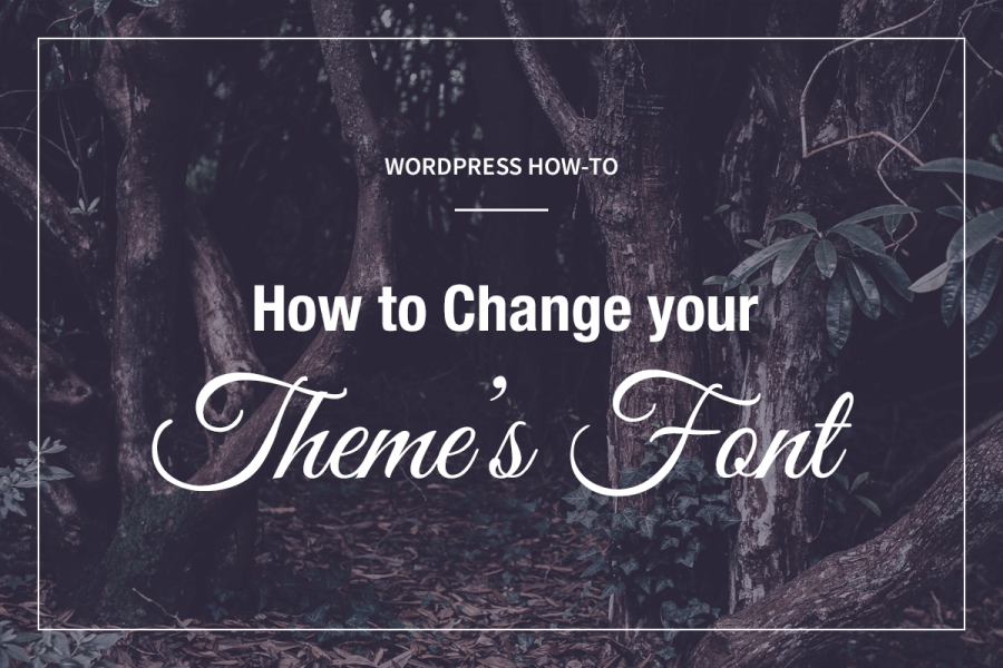 How to change your theme's font