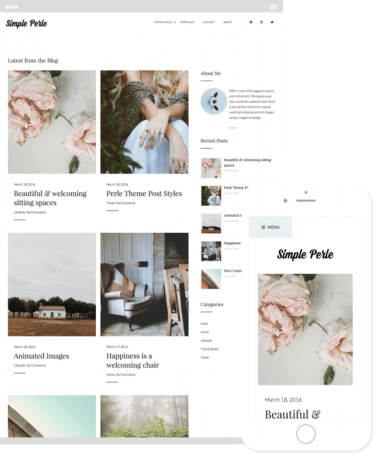 Simple Perle Theme